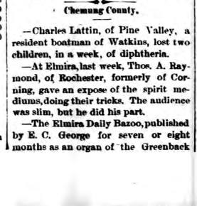 1878 Corning, New York Journal.