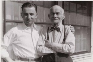 My dad, Donald Judge and his grandfather, Frank G. Roberts. Elmira, New York.