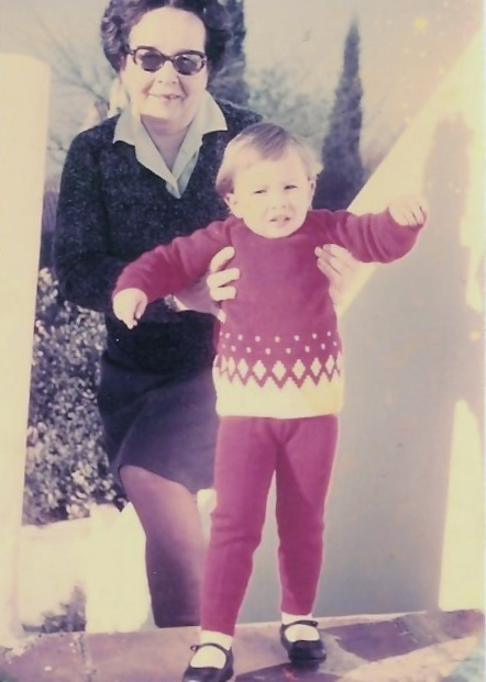 Magda and her granddaughter. c1970