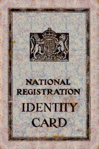 National Identity Card, 1939.