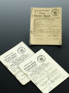 Used ration book and two ration book supplements, England. Credit: Science Museum, London. Wellcome Images images@wellcome.ac.uk http://wellcomeimages.org